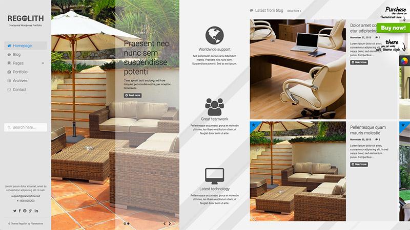 themes horizontal portfolio