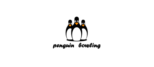 Penguin bowling logo