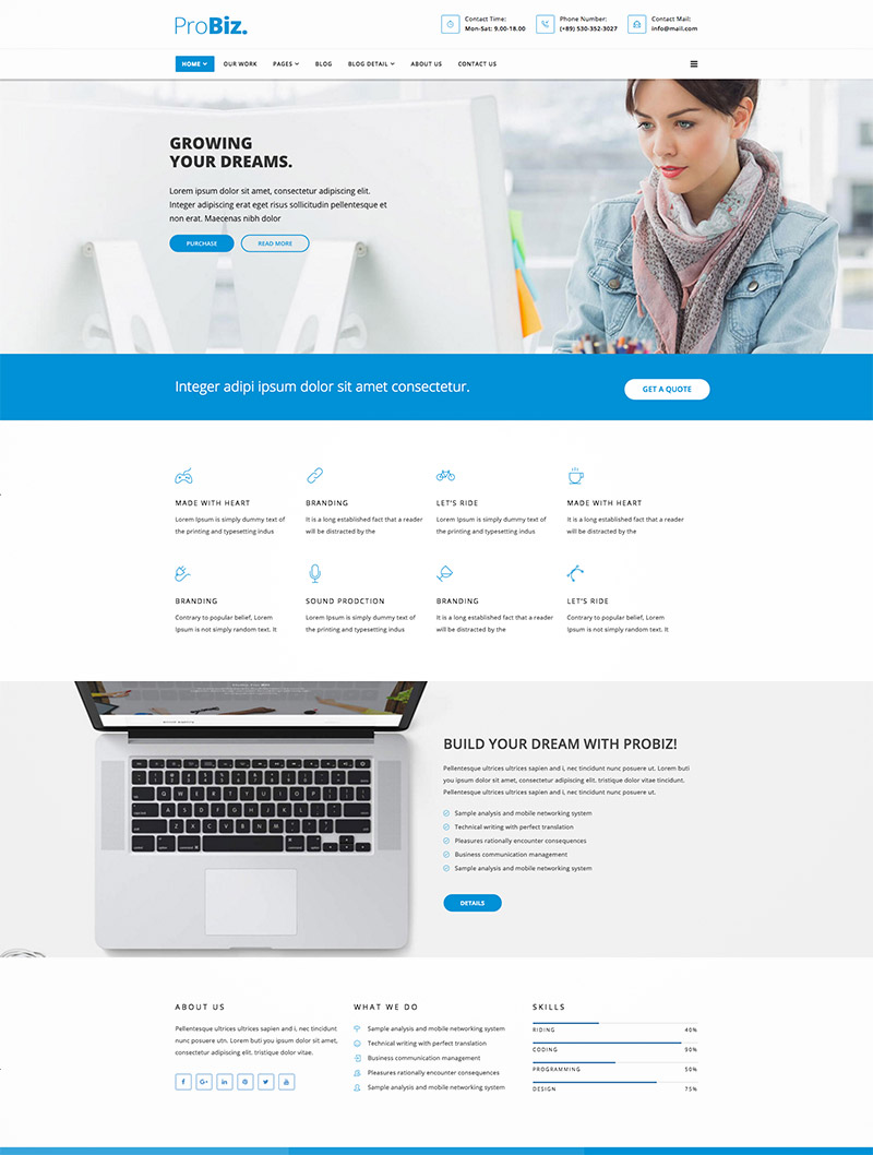 simple business wordpress