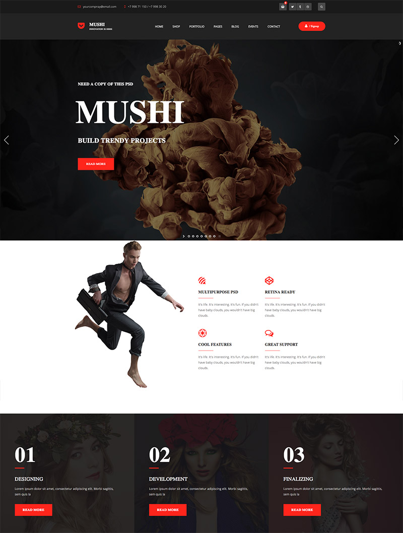 multipurpose company themes