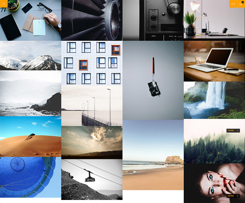 responsive photography themes