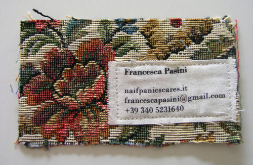 A new collection of unusual business card naldz graphics business card for francesca pasini colourmoves