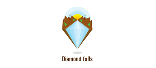 Diamond falls logo