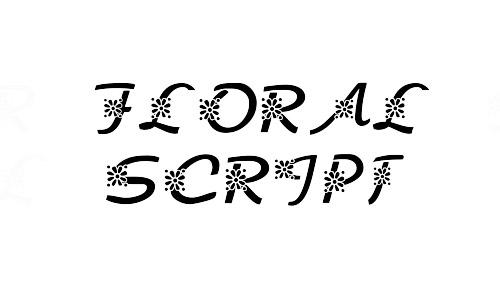 free floral script fonts