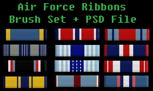 Air Force Ribbons Brush Set