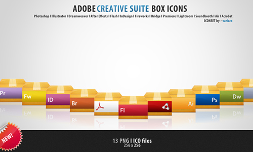 Adobe Box Icons