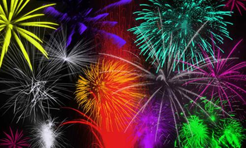 Fireworks brush