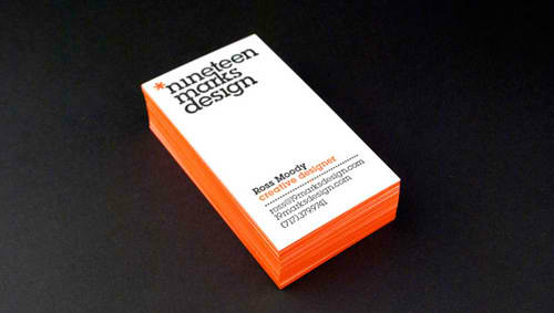 Business Card for: 19 Marks Design