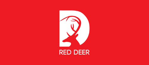 red deer logo design
