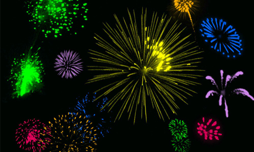 53 Fireworks Brushes