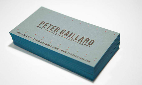 Business Card for: Peter Gaillard