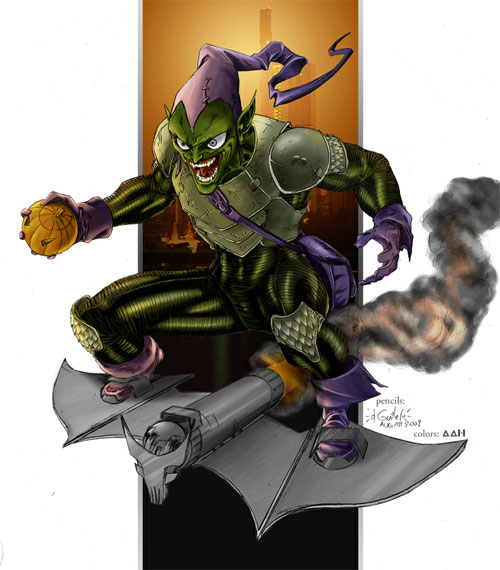 Green Goblin tribute colors