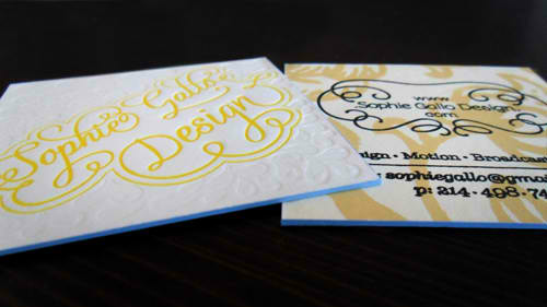 Business Card for: Sophie Gallo