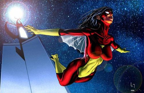spiderwoman de noche