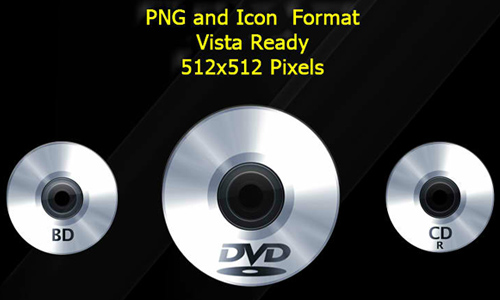 CD and DVD Icons