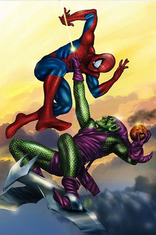 Spider Man vs Green Goblin