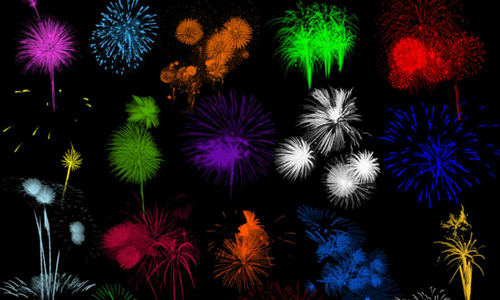 Brushes - Fireworks Set 2