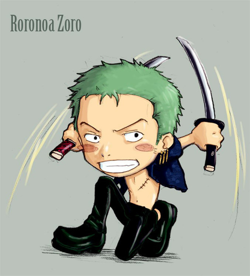 Chibi Zoro::One Piece