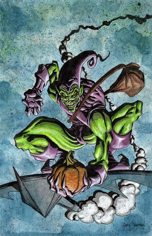 Green Goblin 11x17 canvas
