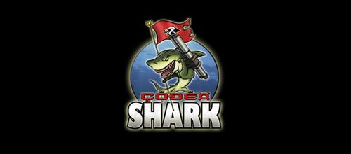 code shark logo