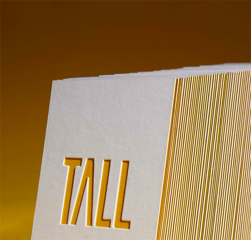 Tall Business Cards