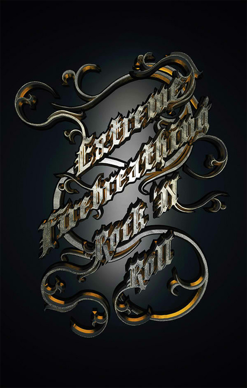 Create a Metallic Type Treatment Using Photoshop and Cinema 4D