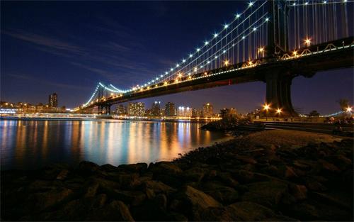 Night Of The Bridge Wallpaper