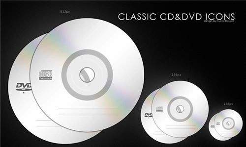 classic cd and dvd icons