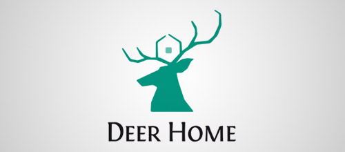 deer home logo design