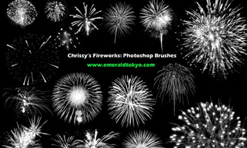Chrissy's Firework PS Brushes
