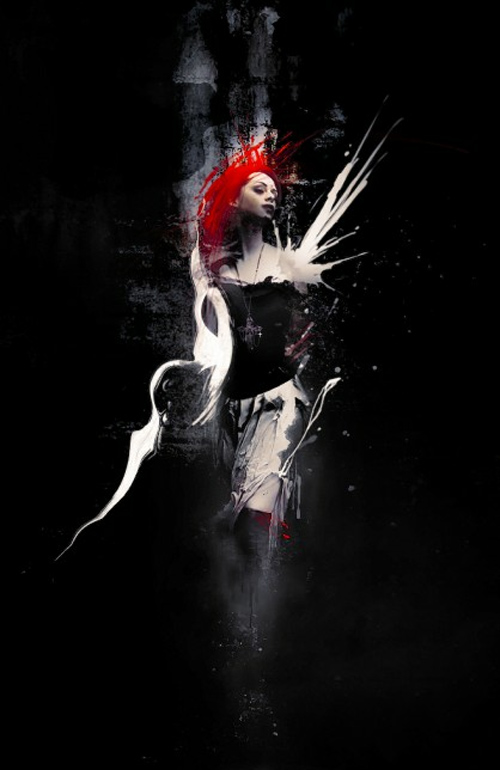 Create Abstract Dark Photo Manipulation with Splatter Brushes in Photoshop