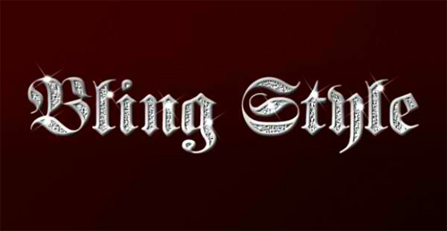Title Text Effects: Making Titles Look Like Gangsta Bling in Photoshop
