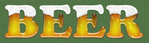 BEER TEXT PHOTOSHOP TUTORIAL