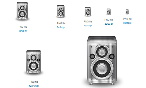 Metal Speaker Icon