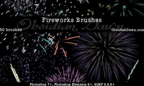 Fireworks Celebration Brushes