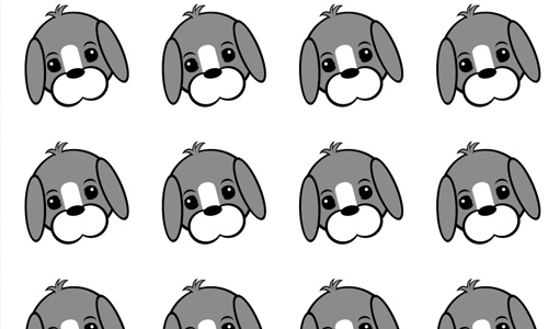Puppy Face: Gray