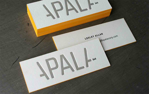 30 spectacular edge painted business cards naldz graphics a set of business cards with yellow edges reheart Gallery
