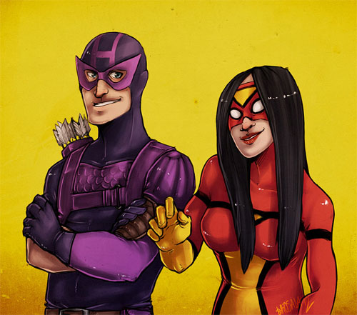 hawkeye and spiderwoman