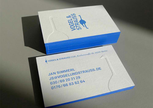 Blue Edged Letterpress