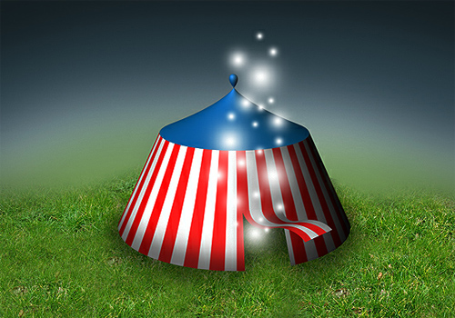 Photoshop CS6 3D Tutorial – Magical 3D Tent Design
