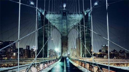 Bridge at Night Wallpaper