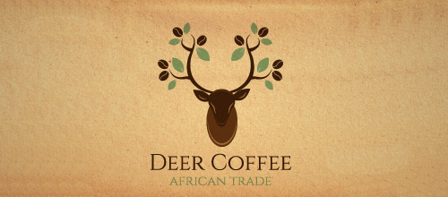 deer coffee African logo