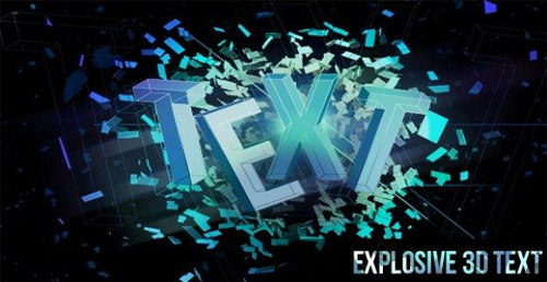 Explosive 3D Text