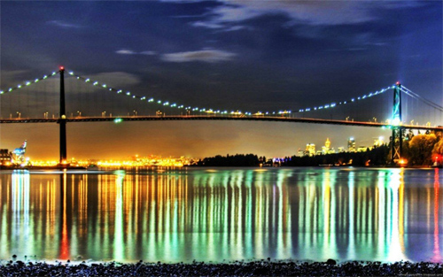 Bridge Lights Reflection