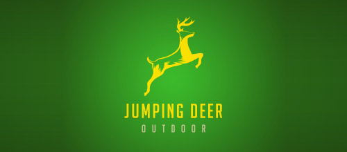 jumping deer outdoor logo