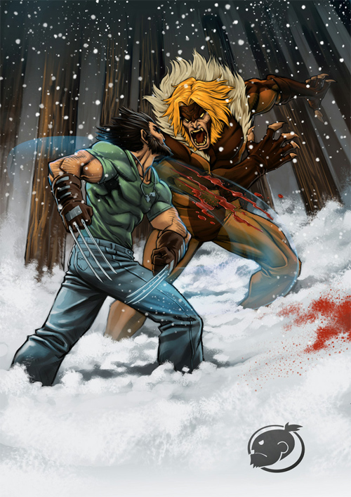 logan vs sabretooth