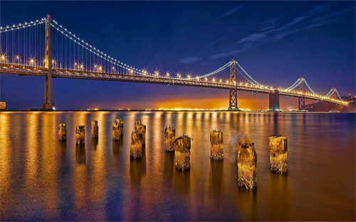 Sparkling Golden Bridge