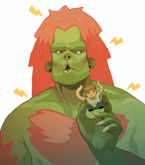 Blanka Has An Ono Toy