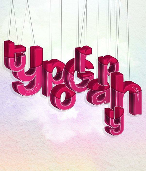 How to Create Hanging Typography in Photoshop and Illustrator