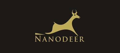 nanodeer logo design
